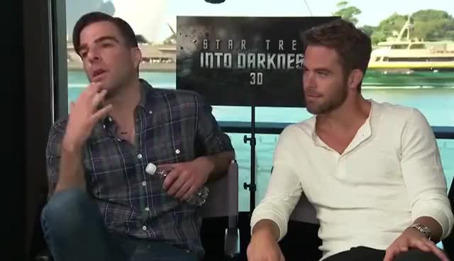 Watch Zachary Quinto and Chris Pine GIF on Gfycat. Discover more Awesome, Chris Pine, Fail, Kirk, Spock, Star trek, Unamused, Zachary Quinto GIFs on Gfycat