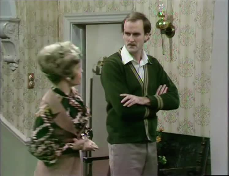 basil fawlty, choke, choking, fawlty towers, gesture, hand, hands, john cleese, Fawlty Towers S01E04 - want to choke someone gesture GIFs