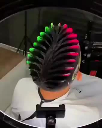 Watch and share Cyberpunk Hair GIFs by Ah Negão on Gfycat