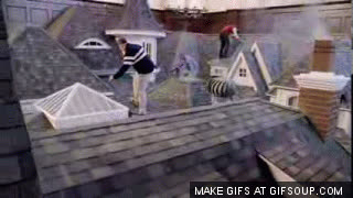 Farmers Insurance Roof Fall GIFs