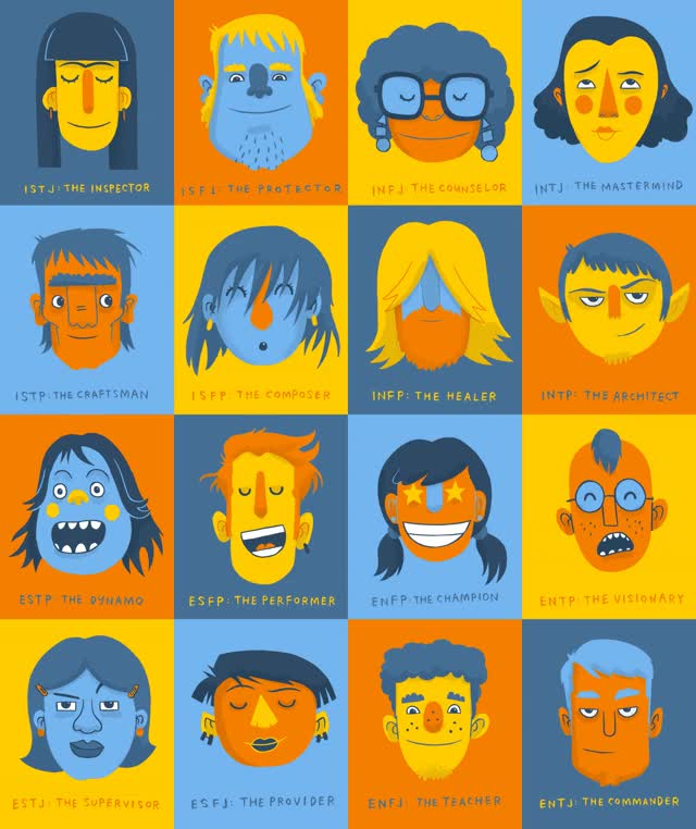 Watch and share Toby Morris Illustrates The 16 Myers-Briggs Personality Types GIFs on Gfycat