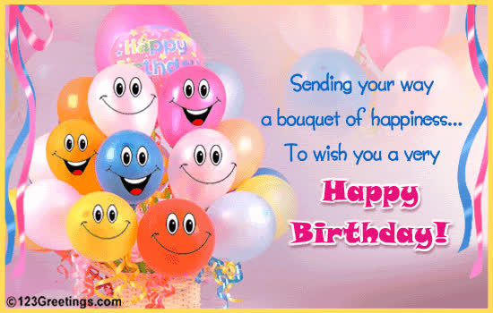 Happy Birthday Wishes Animated Cards For Kids GIF