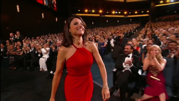 seinfeldgifs, Elaine (Julia Louis-Dreyfus) and Tim Whatley (Bryan Cranston) reunite at Emmys. [Similar scene from Seinfeld in comments.] (reddit) GIFs