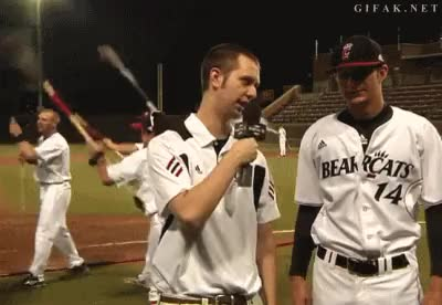 Watch and share Cincinnati Bearcats Celebration Baseball Celebratio Gifs GIFs on Gfycat