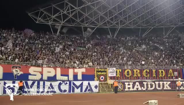 Watch and share Torcida Split / 66. ROĐENDAN - Hajduk Split - NK Osijek 1:0 (14. Kolo Prvenstva Hrvatske) GIFs on Gfycat