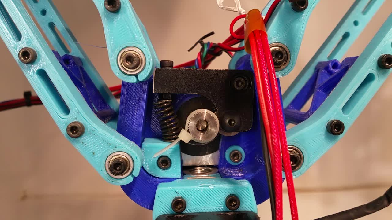 3D Printer, 3D Printing, Deltesian, Extruder Stepper Synchronous Rotation Test 100mm/min GIFs