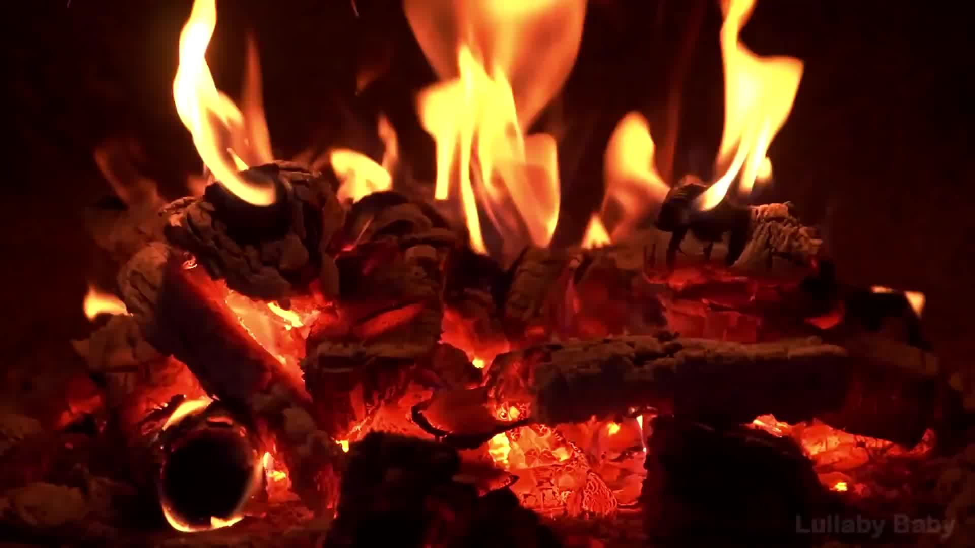 cold, fire, fireplace, heat, hot, perfect loop, perfectl, temperature, youtube, Fire | A 5 second GIF gif from an 8 hour YouTube video GIFs
