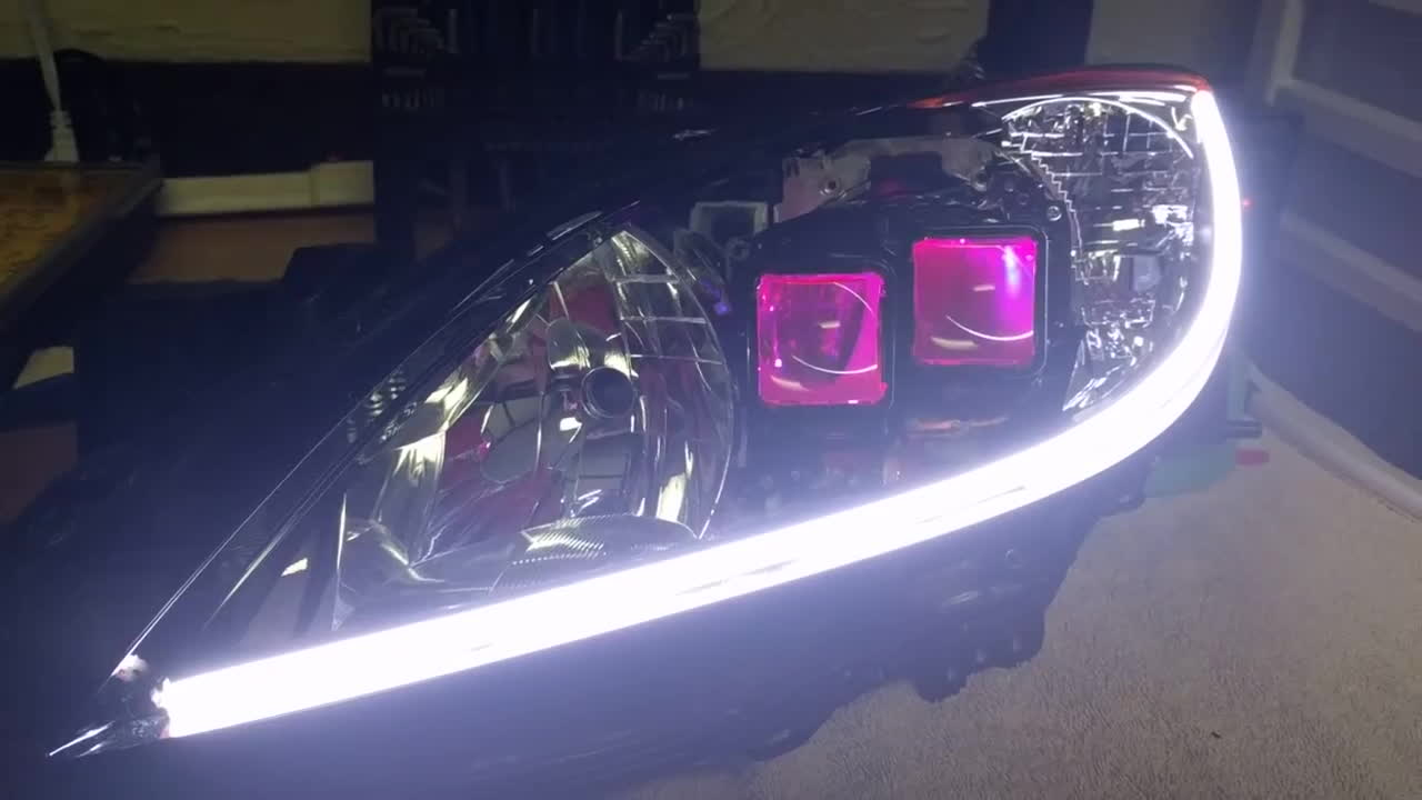 Rgb Demon Eyes, Avalon Projectors and Sequential Switchback Led Strip GIFs