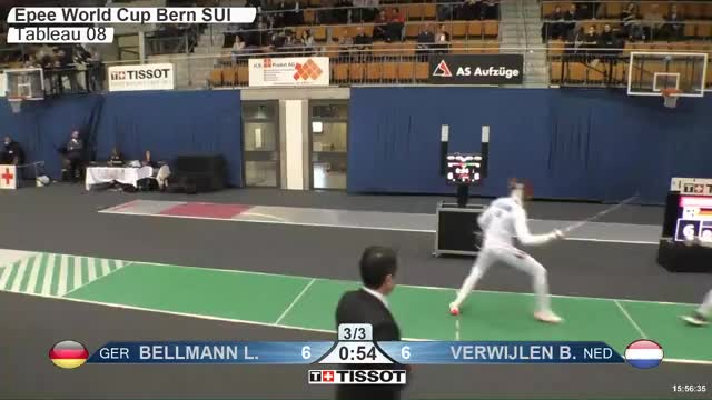 Watch BELLMANN Lr 7 GIF by Scott Dubinsky (@fencingdatabase) on Gfycat. Discover more gender:, leftname: BELLMANN Lr, leftscore: 7, rightname: VERWIJLEN B, rightscore: 7, time: 00023260, touch: double, tournament:, weapon: epee GIFs on Gfycat