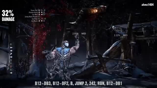 Mortal Kombat X Sub Zero Unbreakable Combo Guide Gif Gfycat