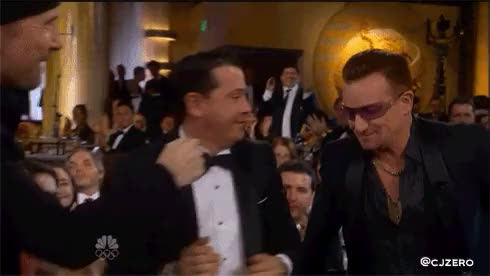 Watch and share Edge Bono Golden Globes GIFs on Gfycat
