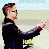 Watch and share Robert Downey Jr GIFs and Comic Con GIFs on Gfycat