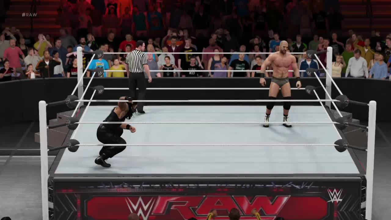 SquaredCircle, WWEGames, sony interactive entertainment, WWE2K17 What A Spear GIFs