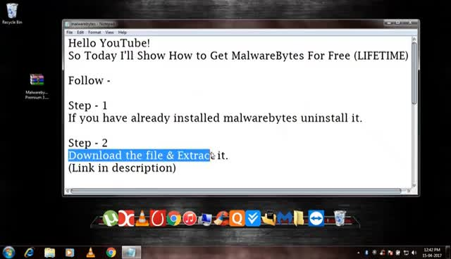 malwarebytes premium free youtube