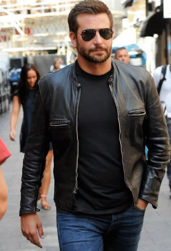 Watch and share Bradley Cooper Adam Jones Leather Jacket GIFs on Gfycat