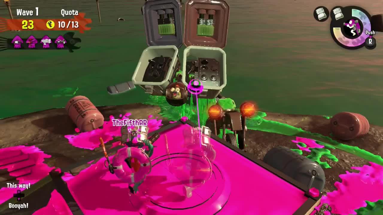 salmonrun, splatoon2, perfect flyfish 2017-08-19 23-18-19 GIFs