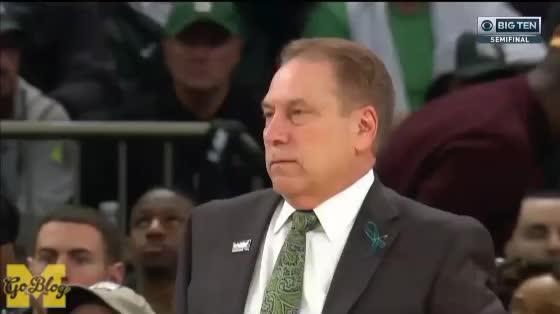 2017-18, 2018 Big Ten Tournament, Basketball, Michigan, Michigan State, Reaction, Tom Izzo, Izzo Sigh GIFs