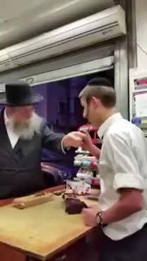 Watch and share Rabbi Smartphone Attack In Israel - YIDDISH - לייג אס אוועק, נישט דאָ GIFs on Gfycat
