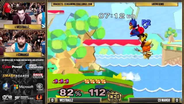 CEO 2015 - Westballz (Falco) Vs. C9 Mango (Fox) SSBM Losers Semis - Smash Melee