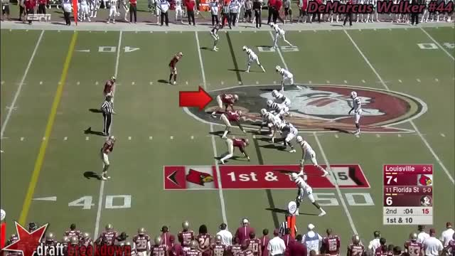 Watch DeMarcus Walker (FSU DL) vs Louisville 2015 GIF on Gfycat. Discover more related GIFs on Gfycat