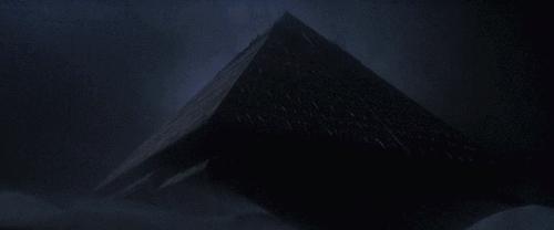 pyamid, roland emmerich, sci fi, spaceship, stargate, [Stargate, 1994] GIFs