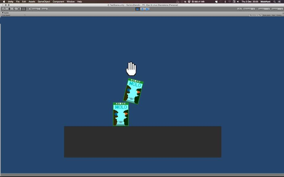 unity2d, Clicking and Dragging and Throwing GIFs