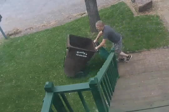 bettereveryloop, Taking out the trash. GIFs
