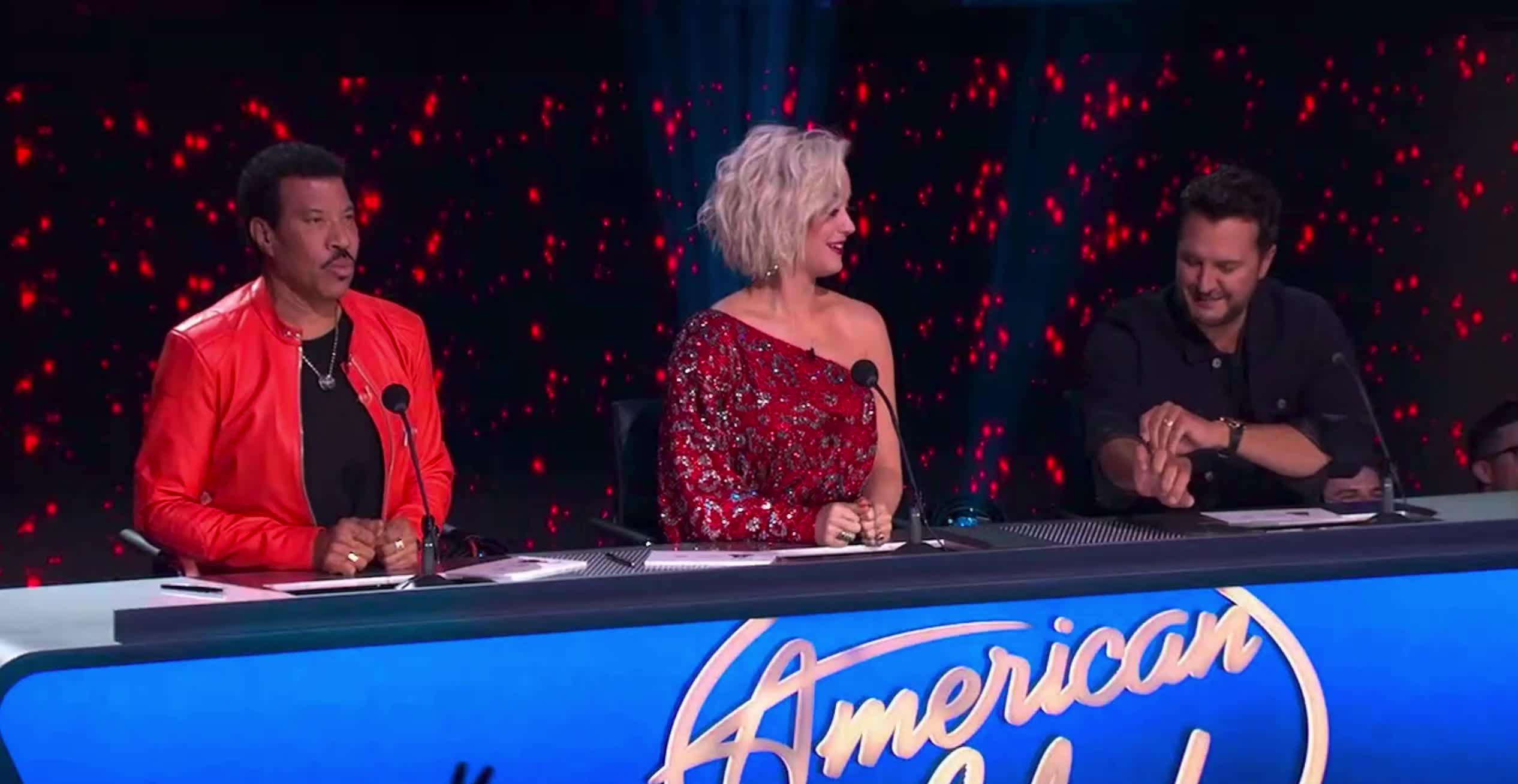 american idol, american idol season 17, americanidol, katy perry, lionel richie, luke bryan, nervous, ryan seacrest, season 17, American Idol Judges Nervous Goosebumps GIFs