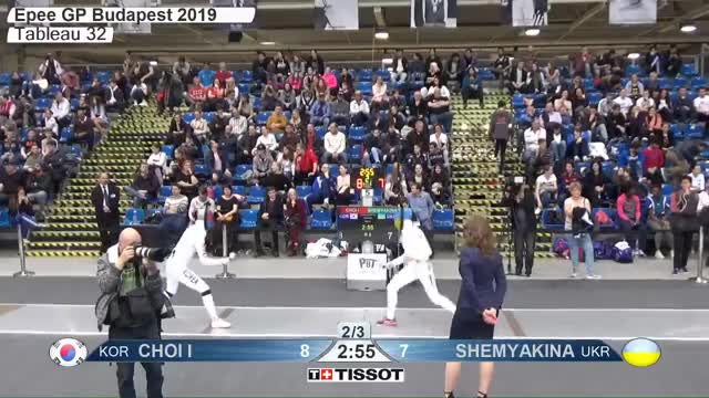 Watch CHOI I 8 GIF by Scott Dubinsky (@fencingdatabase) on Gfycat. Discover more gender:, leftname: CHOI I, leftscore: 8, rightname: SHEMYAKINA, rightscore: 7, time: 00015314, touch: double, tournament: budapest2019, weapon: epee GIFs on Gfycat