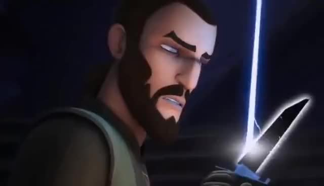 Watch and share [Sabine Defeat's Kanan At The Lightsaber Duel] Star Wars Rebels Season 3 Episode 15 [HD] GIFs on Gfycat