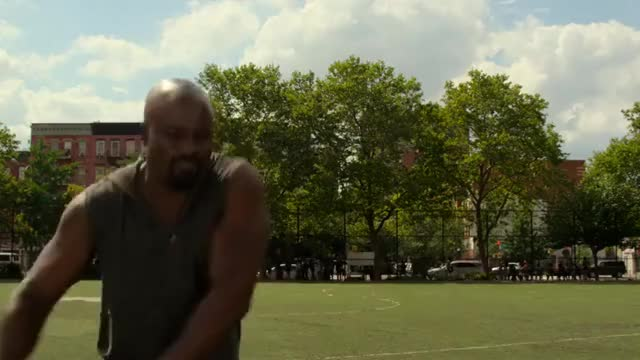 Watch Luke Cage throws Tire GIF by Subline (@subline) on Gfycat. Discover more related GIFs on Gfycat