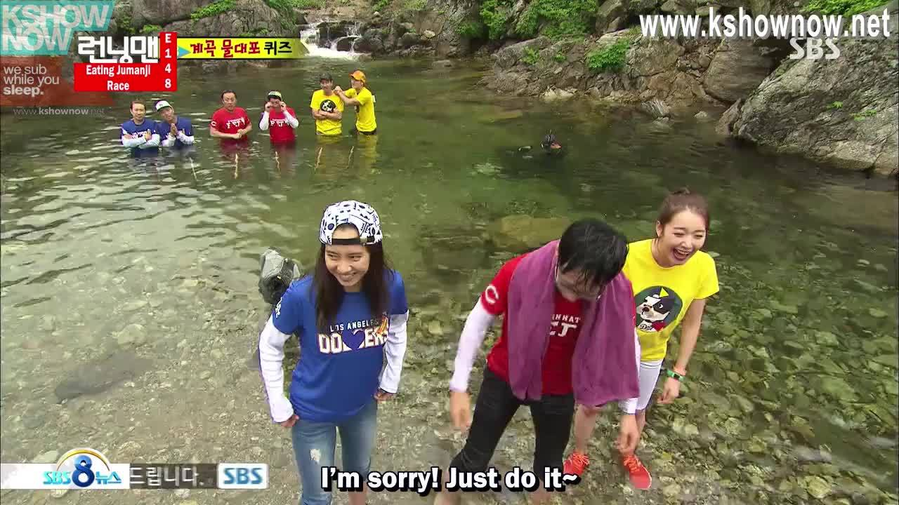 koreanvariety, Yoo Jae Suk playing wih boom mic as pet GIFs