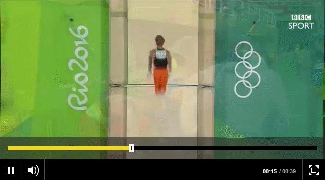 faceplant, olymgifs, olympics, Zonderland face-plants off horizontal bar GIFs