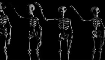 Watch and share Row Of Dancing Skeletons GIFs on Gfycat
