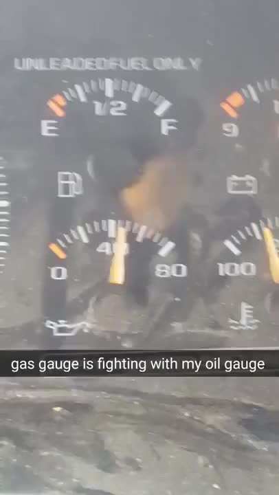 Watch and share Gas Gauge Fighting With Oil Gauge GIFs on Gfycat