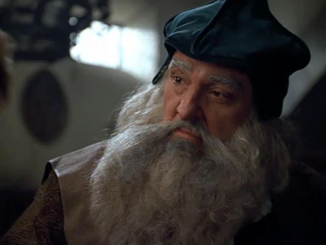 John Rhys-Davies, Leonardo da Vinci, Star Trek, Star Trek Voyager, VOY, Voyager, When I ask Leonardo da Vinci to qoute something from Lord of the Rings GIFs
