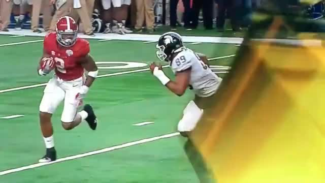 Watch Alabama Derrick Henry Stiff Arms Spartan Defender Runs In For TD GIF on Gfycat. Discover more related GIFs on Gfycat