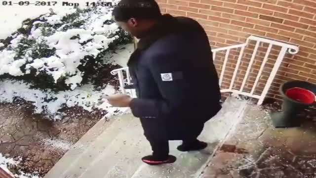 Watch and share Meek Mill Falls Down The Steps Into The Snow Leaving His Mom House (Funny) GIFs on Gfycat