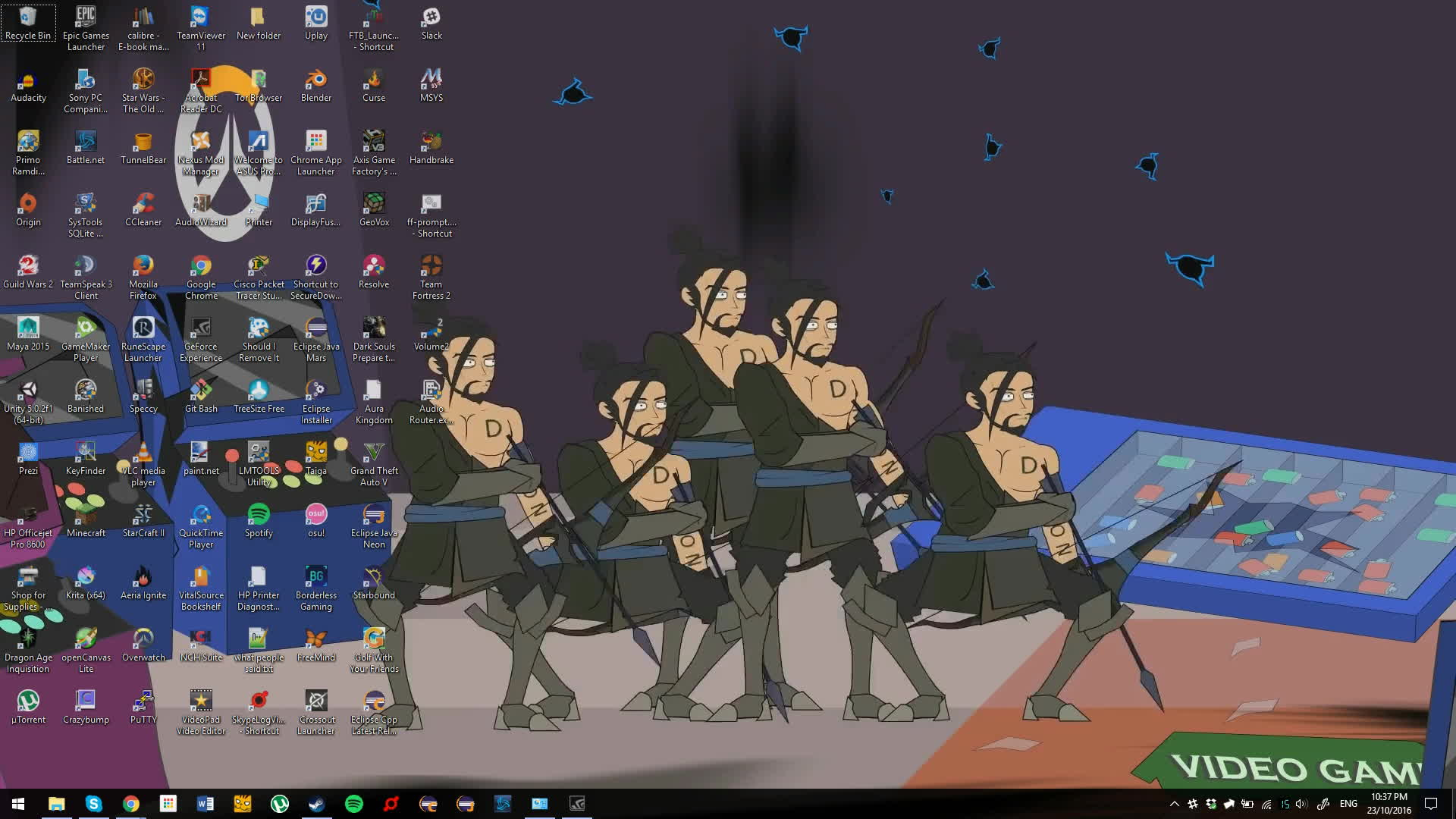 Wronchi Animation S Hanzo Team On My Desktop Using Deskscapes Gif By Jaffarr