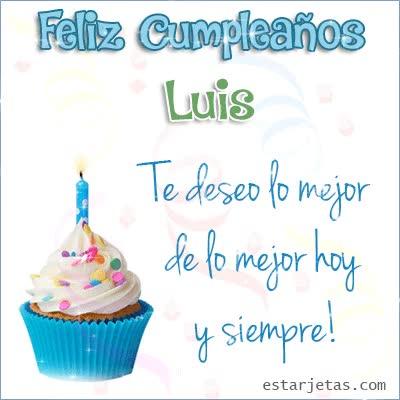 Watch and share Feliz Cumpleaños Luis Te Deseo De Lo Mejor Hoy Y Siempre GIFs on Gfycat