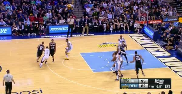 nbagifs, High-low pass from Bobo, Timmy up and under & the flush (reddit) GIFs