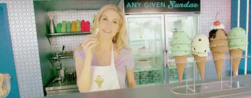 Watch and share Elizabeth Mitchell GIFs and Ice Cream GIFs on Gfycat