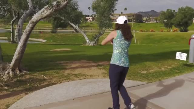 Watch Round Two 2019 Memorial Championship - Jessica Weese hole 9 drive GIF by Benn Wineka UWDG (@bennwineka) on Gfycat. Discover more Sports, dgpt, disc golf, disc golf pro tour GIFs on Gfycat