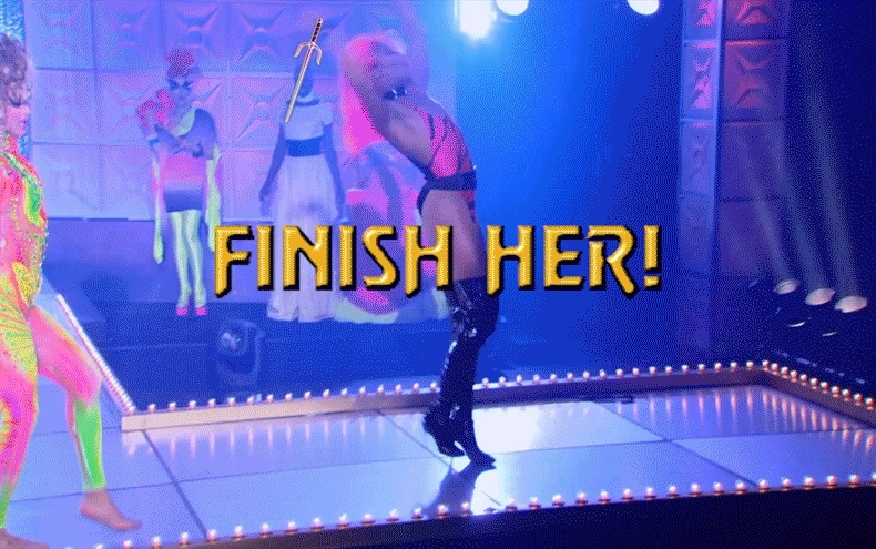 MortalKombat, rupaulsdragrace, Playing Danganronpa 2 when a very unexpected reference appears... (reddit) GIFs