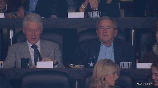 bill clinton, collegebasketball, george bush, george w. bush, politics, Game Thread: [National Championship] (8) Kentucky Wildcats vs (7) UConn Huskies (9:10pm ET) (reddit) GIFs