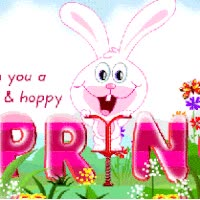 Watch and share Spring Bunny Wish Happy Emoticon Emoticons Animated Animation Animations Gif GIFs on Gfycat