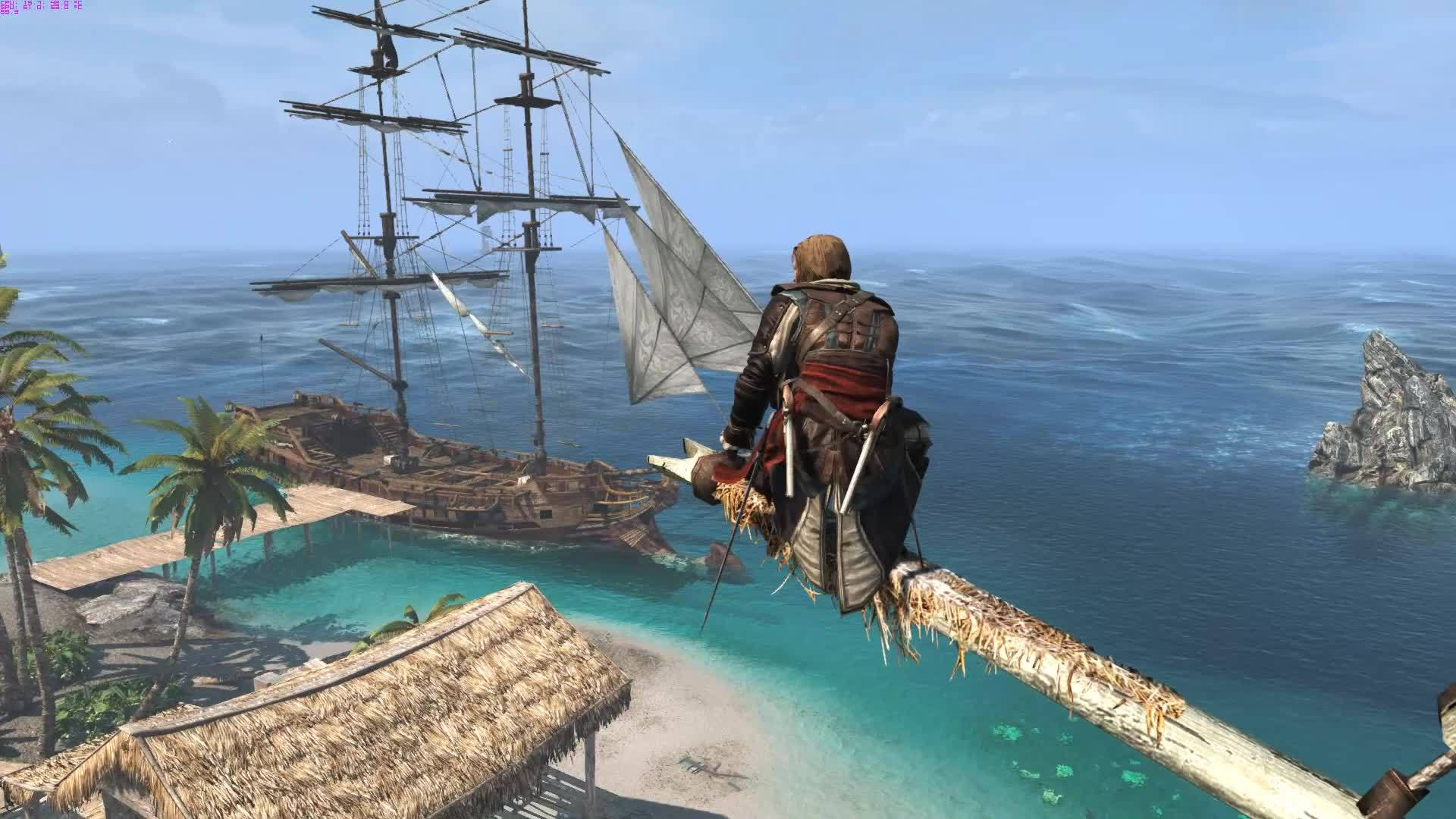 60fpsgaminggifs, [AC4: Black Flag] ... it's all about the islands, man (reddit) GIFs