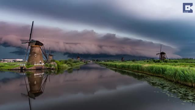 Watch Epic Shelf Cloud Moves Over World Protected Windmills GIF by slimjones123 on Gfycat. Discover more catersnewsagency, viral, weathergifs GIFs on Gfycat