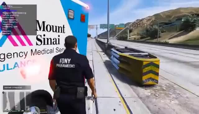 Watch and share GTA 5 Play As A Paramedic Mod 38 | New York City EMS Ambulance Pack | Major Accident On The Highway GIFs on Gfycat
