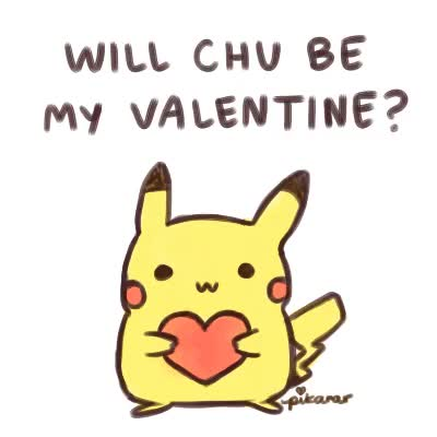 Watch and share Happy Valentines Day GIFs and Pikachu GIFs on Gfycat